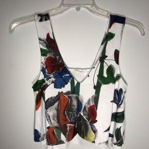 Zara floral flowy tank top